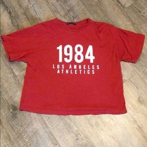 Red LA athletics tshirt